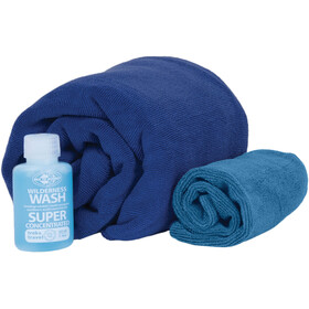 Sea to Summit Tek Towel Wash Kit L Cobalt Blue